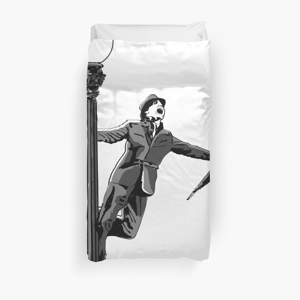 Singing in the rain Duvet Cover