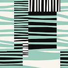 TWIGGY STRIPES, mint green and black by mapmapart