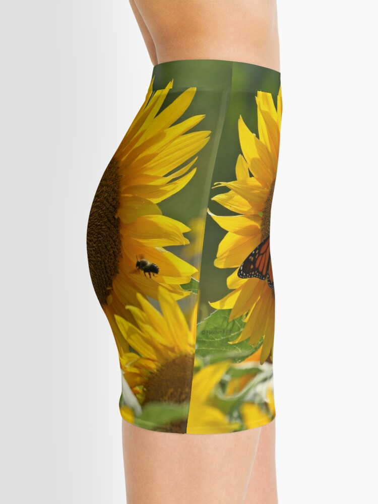 Alternate view of The butterfly the bee and the sunflower Mini Skirt