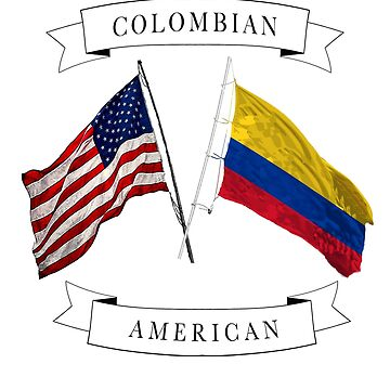 Colombian American ancestry flag design by jhussar