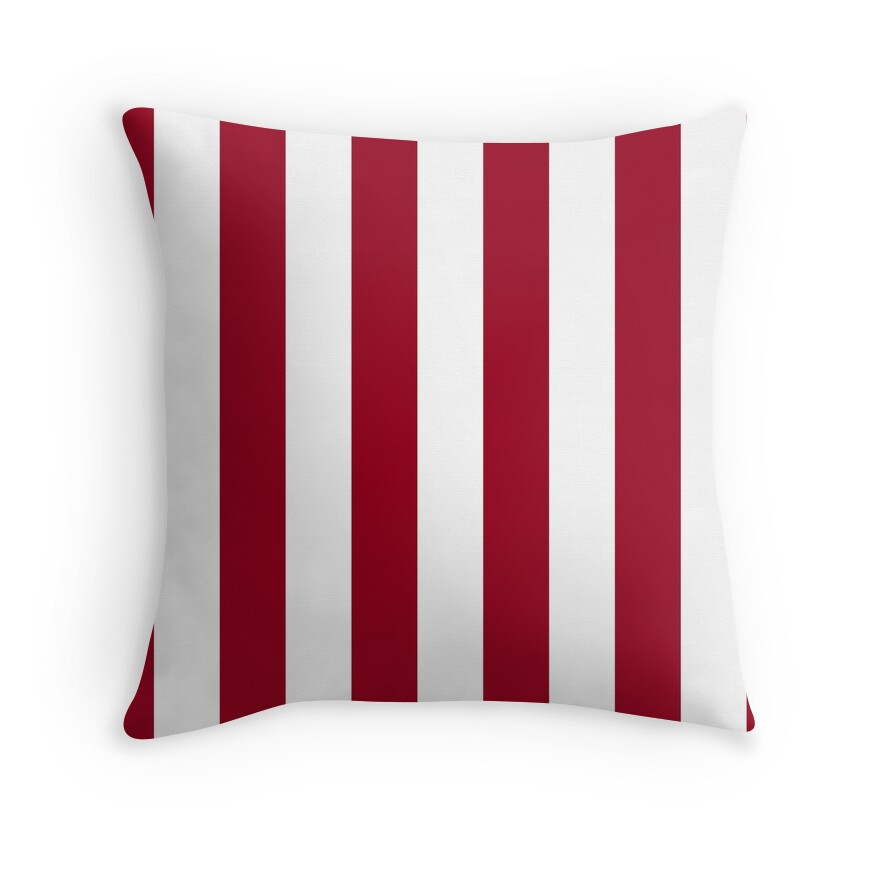 Bright Jester Red and White Wide Vertical Cabana Tent Stripe