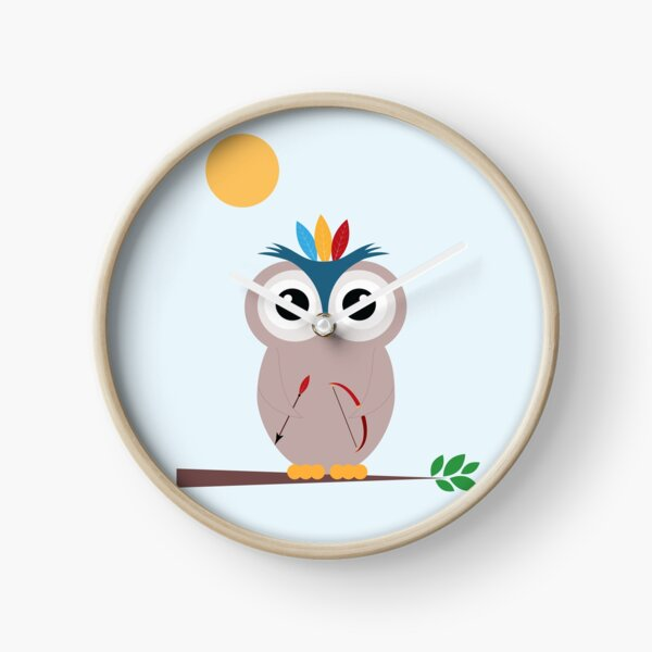 Be brave with owl Clock