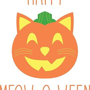 Cat Pumpkin Happy Halloween Meowoween by MadeInMeowica