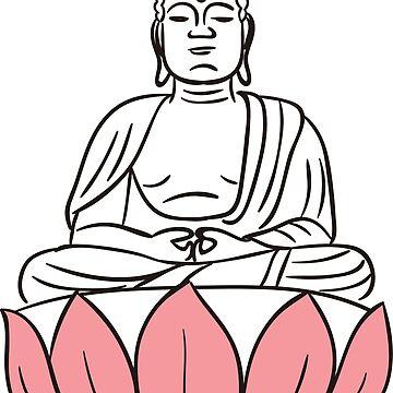 Buddha Poster Yoga Buddhism by tanabe