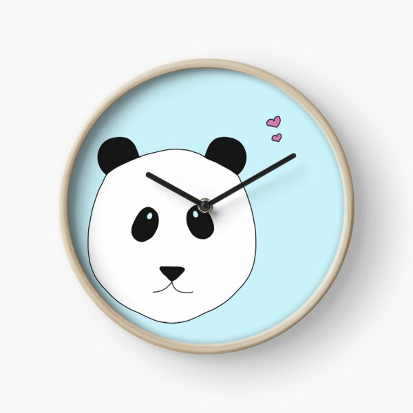 Panda Love in blau  Uhr