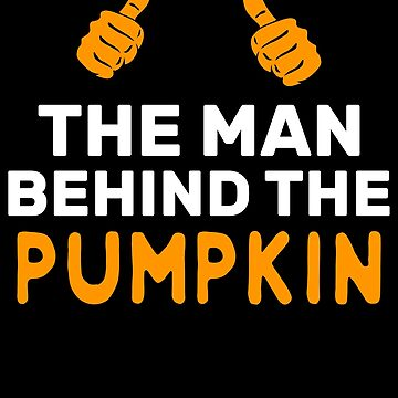 The Man Behind The Pumpkin Halloween Father Halloween Dad of the baby comming couples matching costume new father by bulletfast