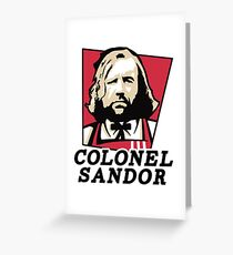 Colonel Sandor Greeting Card