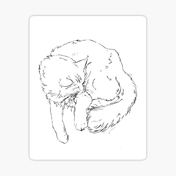 Ode to my cat Chanel Sticker