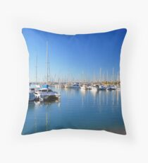 Mast Reflections Throw Pillow