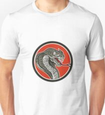 Cobra Viper Snake Circle Retro T-Shirt