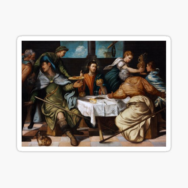 The Supper at Emmaus by Tintoretto Sticker