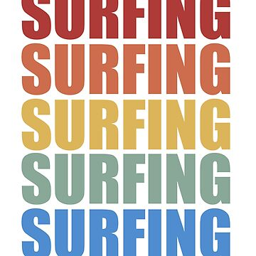 Vintage Retro Style Surfing by mcko2704