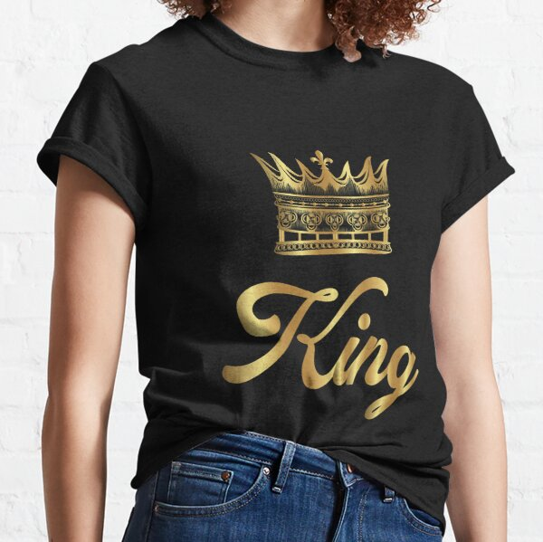 Golden Crown Gold Crowns Lifestyle King Queen Gift Classic T-Shirt