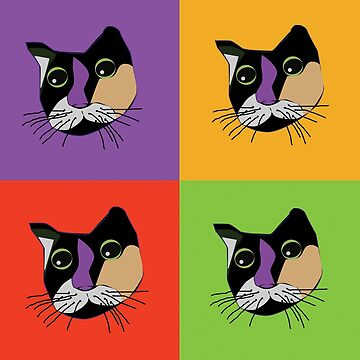 Sola the Cat - Four Colors by JoannieKayaks