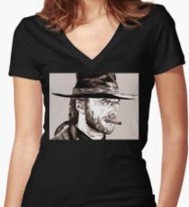 Clint - 2 Women's Fitted V-Neck T-Shirt