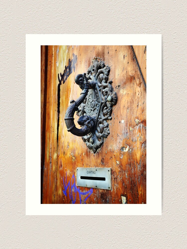 Alternate view of Door Knocker at Barri Gotic Art Print