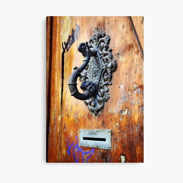 Door Knocker at Barri Gotic Canvas Print