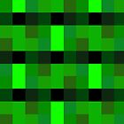 Green Techno Pixel Pattern by PikachuRox