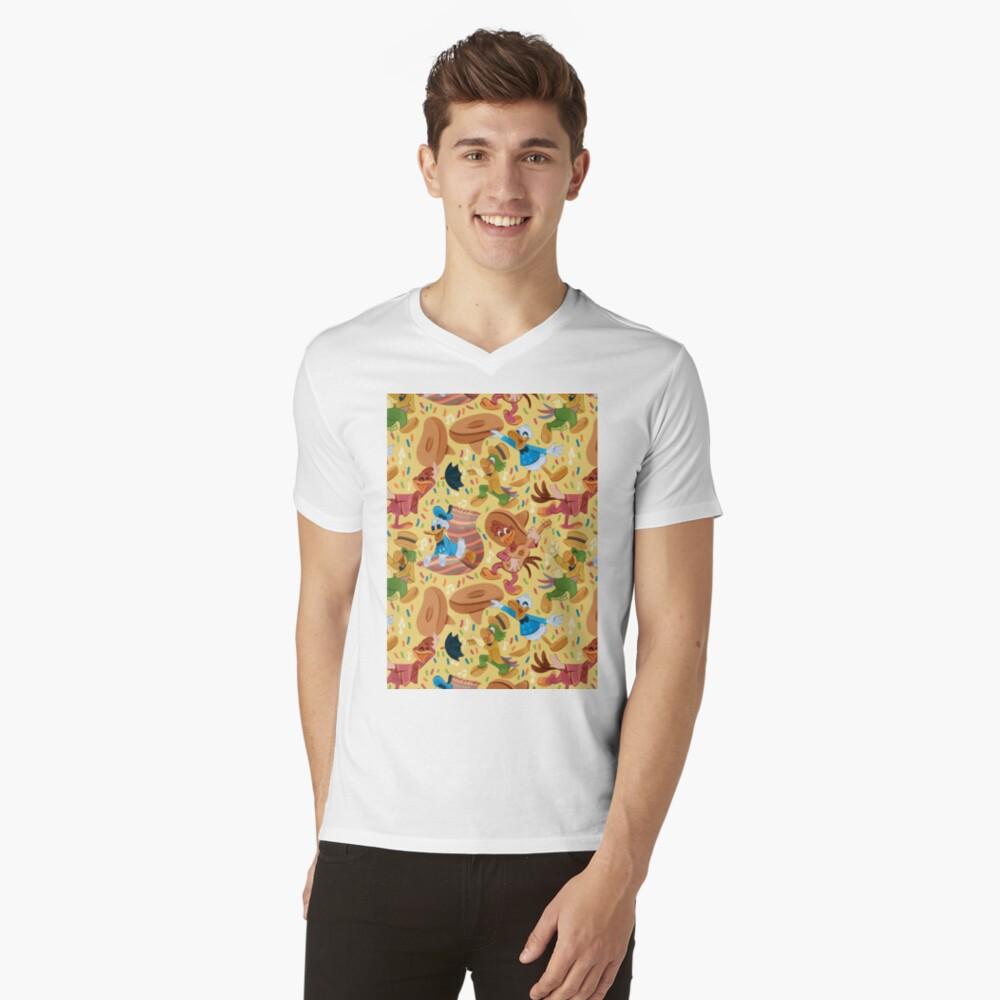 Drei glückliche Chappies! T-Shirt mit V-Ausschnitt