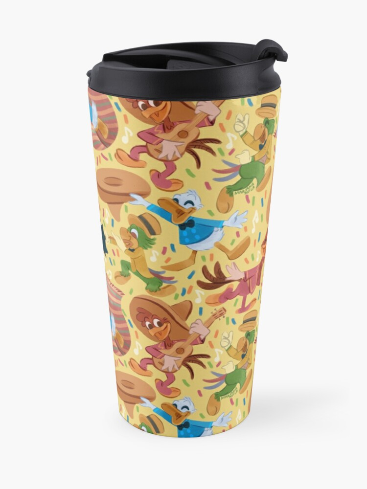 Alternate view of Three Happy Chappies! Travel Mug