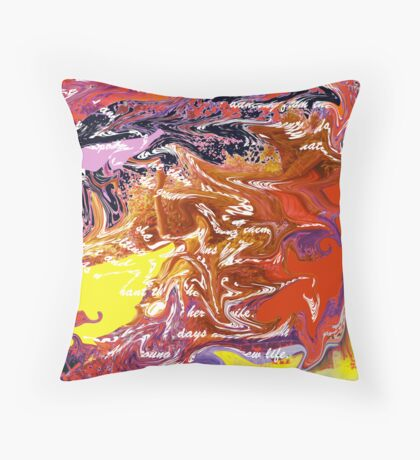 Cypher Throw Pillow