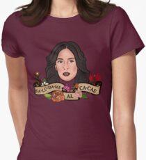 Camiseta entallada para mujer Saludame Al Cacas