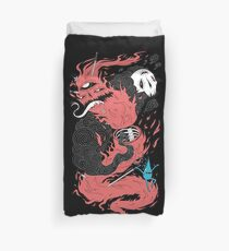 Death Of The Fire Demon Duvet Cover