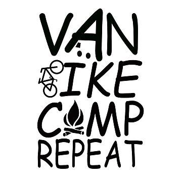 Van Bike Camp Repeat by MyLovelyVan