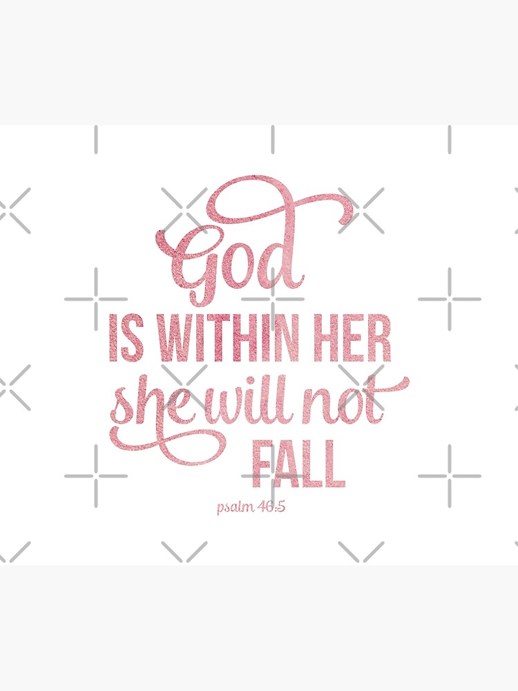 Christian Quote Watercolor - God is within her by ChristianStore