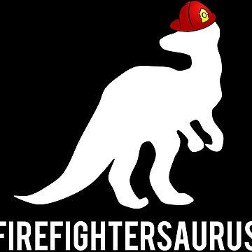 Firefightersaurus Firefighter Dinosaur T-shirt by zcecmza