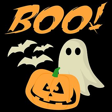 Boo Halloween Ghost Bats Jack O Lantern Unisex by BUBLTEES