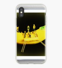Banana Boat Mining Company - Silver Frame.  Steve Purnell and Sandra Cockayne iPhone Case