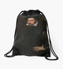 Portrait of a Gentleman by Tintoretto Drawstring Bag