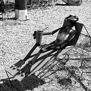 Sunbathing Frog by Michiale