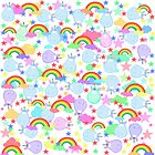 Unicorns And Rainbows Colourful Pattern by jaggerstudios