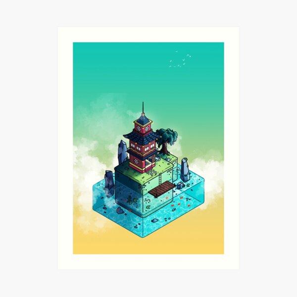 Lone Temple Art Print