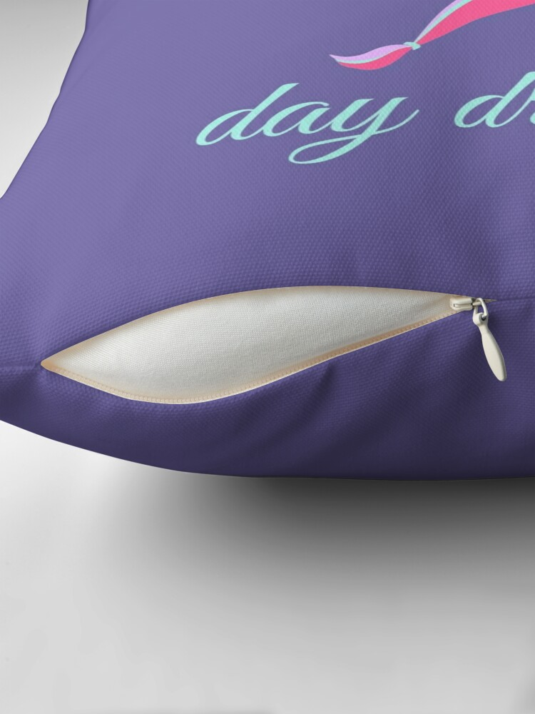 Alternate view of Don't Quit Your Day Dream Unicorn Throw Pillow