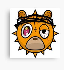 Glo Gang Bear Canvas Print
