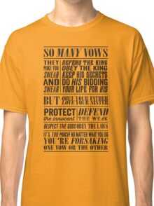 So Many Vows (Black) Classic T-Shirt