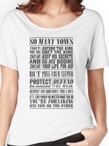 So Many Vows (Black) Women's Relaxed Fit T-Shirt