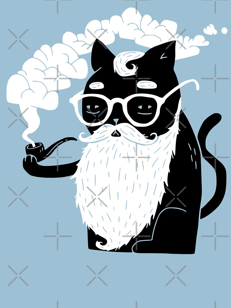 TShirtGifter presents: Whiskers And Pipe | Unisex T-Shirt