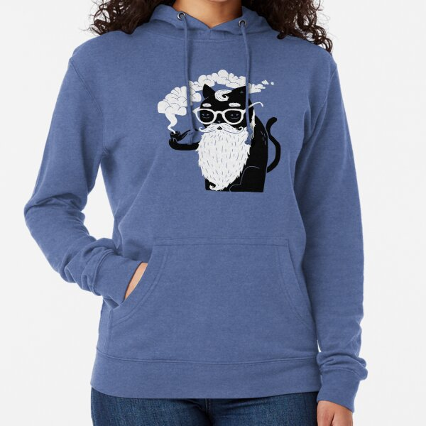 Whiskers And Pipe Lightweight Hoodie