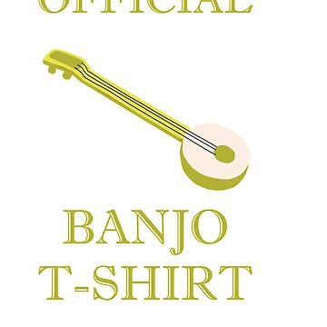 Awesome Banjo's Tshirt Design Official Banjo Tshirt by Customdesign200