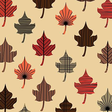 Retro Autumn Leaves by thepixelgarden