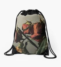 Fallen Rose Drawstring Bag