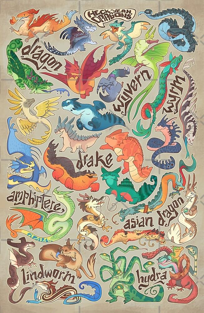 Mini-Drachen-Kompendium von Colordrilos