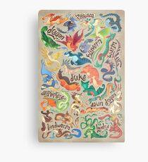Mini dragon compendium  Metal Print
