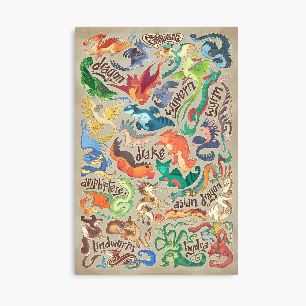 Mini dragon compendium  Canvas Print