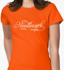 Needlework (white) Womens Fitted T-Shirt