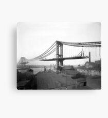 Lienzo Manhattan Bridge Construction, 1909. Foto de época
